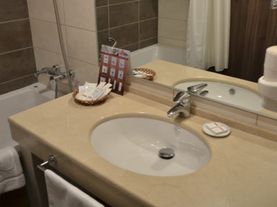 Интерьер ванной в гостинице ГРИНН