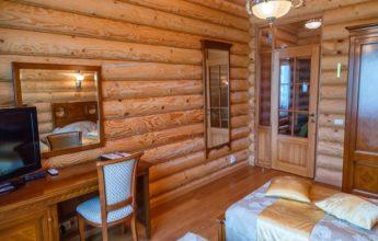 Номер с раздельными кроватями в экоотеле фото